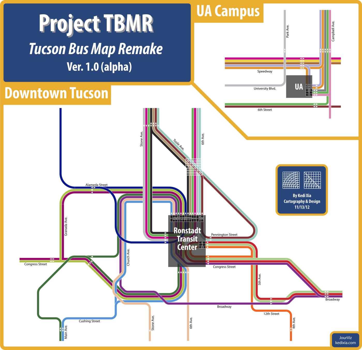 Concept Bus Route Map